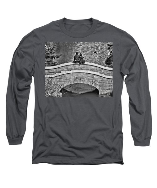 Lovers On A Bridge  Long Sleeve T-Shirt