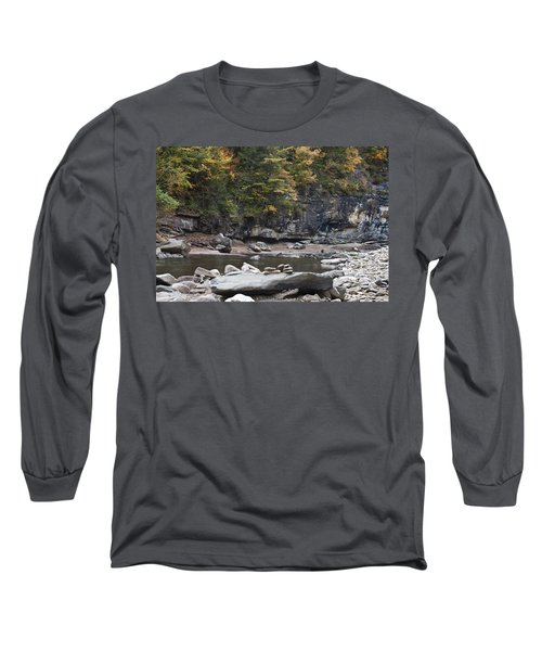 Loyalsock Creek In The Fall Long Sleeve T-Shirt