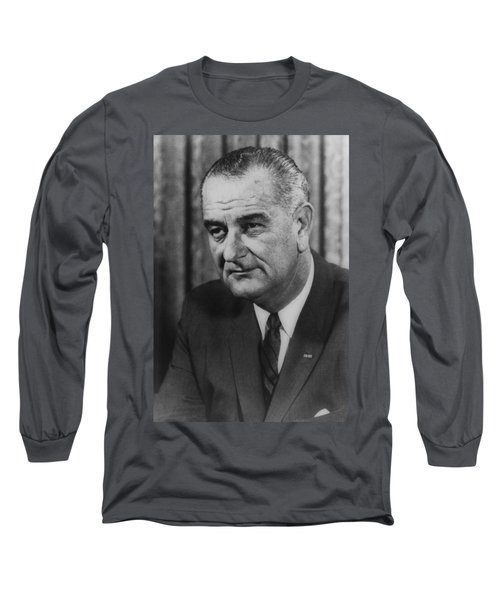 Long Sleeve T-Shirt featuring the photograph Lyndon B Johnson by International  Images