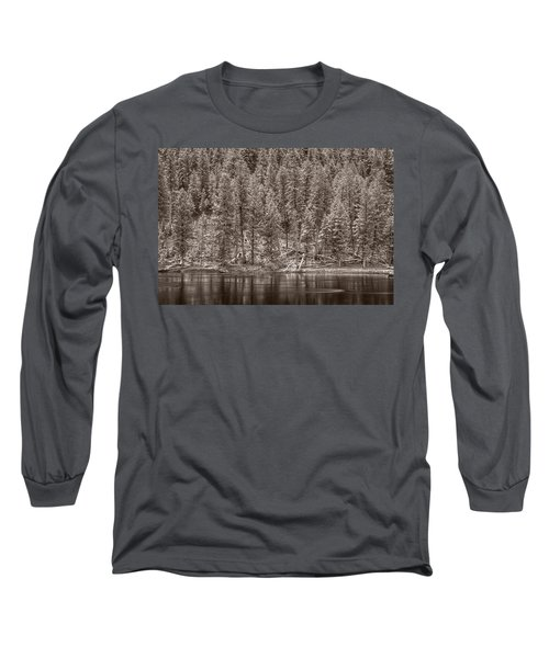 Madison River Yellowstone Bw Long Sleeve T-Shirt