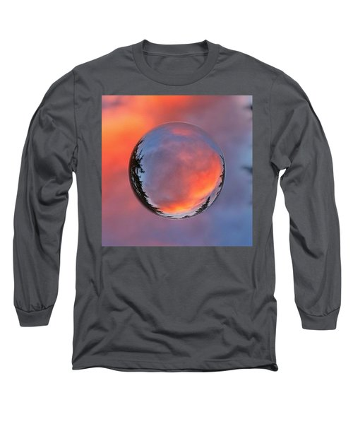 Sunset In A Marble Long Sleeve T-Shirt by Anna Porter