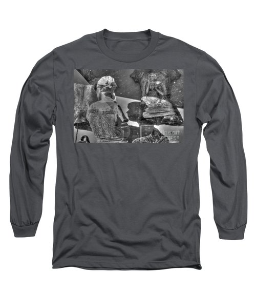 Marilyn's Shadow At Night Long Sleeve T-Shirt