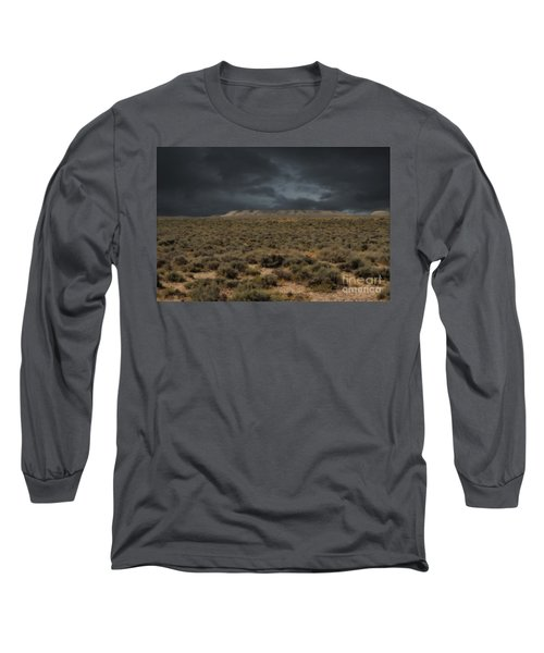 Midnight On The Pairie In Wyoming Long Sleeve T-Shirt