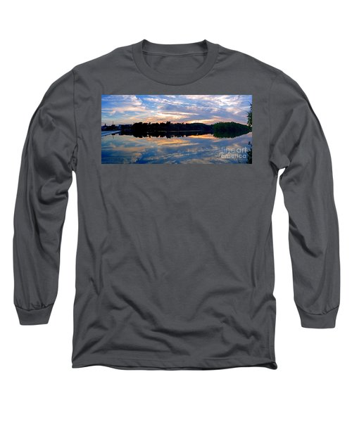 Mirror Mirror On The Water Long Sleeve T-Shirt by Sue Stefanowicz