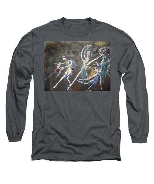 Modern Ballet Long Sleeve T-Shirt by Judith Desrosiers