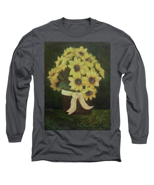 Mom's Bouquet Long Sleeve T-Shirt by Christy Saunders Church