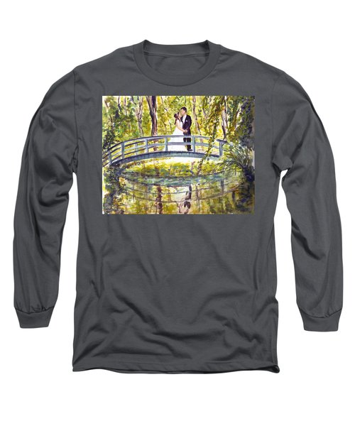 Long Sleeve T-Shirt featuring the painting Monet Wedding by Clara Sue Beym