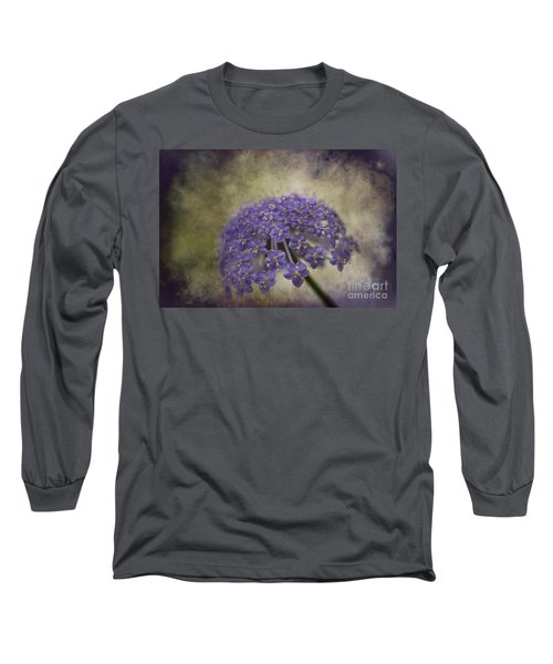 Long Sleeve T-Shirt featuring the photograph Moody Blue by Clare Bambers