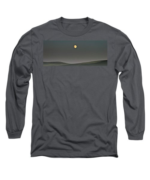 Long Sleeve T-Shirt featuring the photograph Moon Over The Palouse by Albert Seger