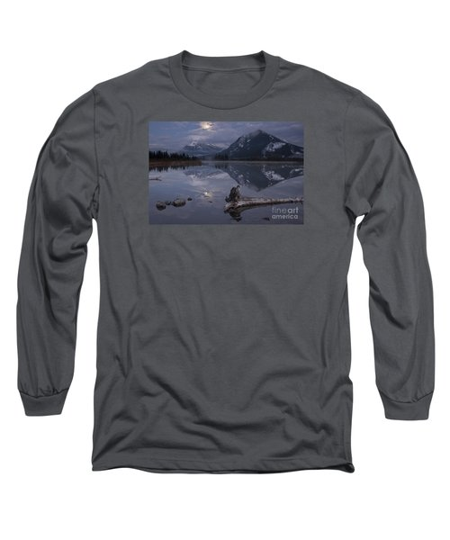 Long Sleeve T-Shirt featuring the photograph Moonrise Over Banff by Keith Kapple