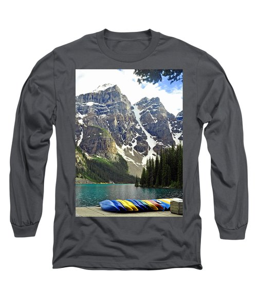 Long Sleeve T-Shirt featuring the photograph Moraine Lake by Lisa Phillips