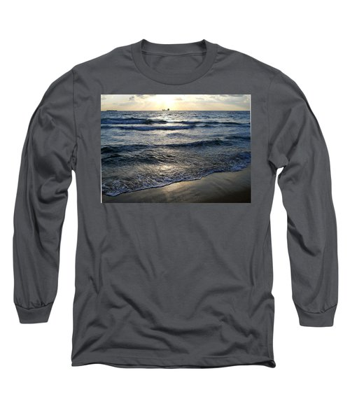 Long Sleeve T-Shirt featuring the photograph Morning Surf by Clara Sue Beym