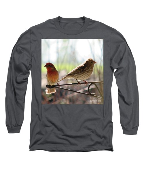 Morning Visitors 2 Long Sleeve T-Shirt by Rory Sagner