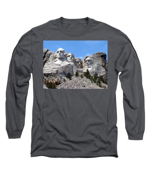 Mount Rushmore Usa Long Sleeve T-Shirt