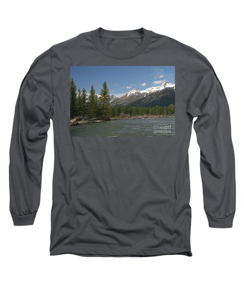 My Favorite Of The Grand Tetons Long Sleeve T-Shirt by Living Color Photography Lorraine Lynch