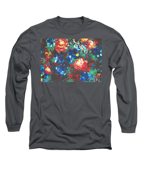 Long Sleeve T-Shirt featuring the painting My Sister's Garden II by Alys Caviness-Gober