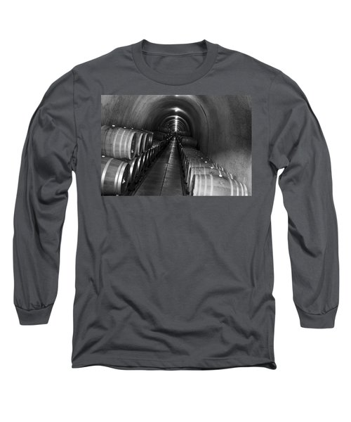 Napa Wine Barrels In Cellar Long Sleeve T-Shirt
