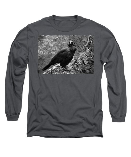Nevermore - Black And White Long Sleeve T-Shirt
