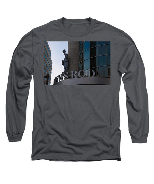 Long Sleeve T-Shirt featuring the photograph News Room by Stephanie Nuttall