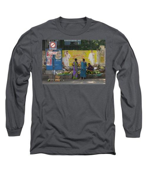 Long Sleeve T-Shirt featuring the photograph No Parking by David Pantuso