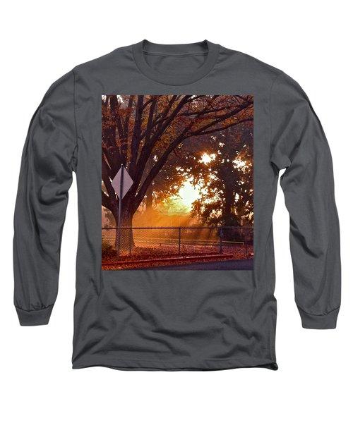 Long Sleeve T-Shirt featuring the photograph November Sunrise by Bill Owen