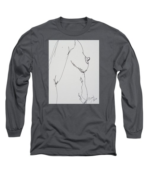 Nude Breast Study Long Sleeve T-Shirt by Rand Swift