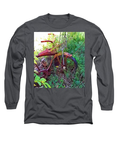 Old Bike And Weeds Long Sleeve T-Shirt