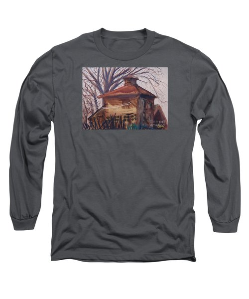 Old Garage Long Sleeve T-Shirt by Rod Ismay