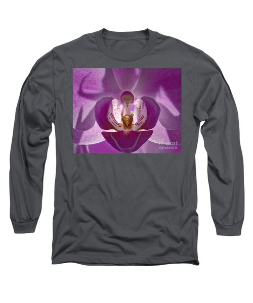 Orchid   Long Sleeve T-Shirt by Sue Stefanowicz