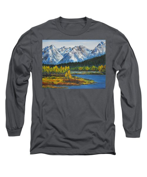 Oxbow-grand Tetons  Long Sleeve T-Shirt