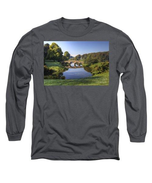 Palladian Bridge At Stourhead. Long Sleeve T-Shirt