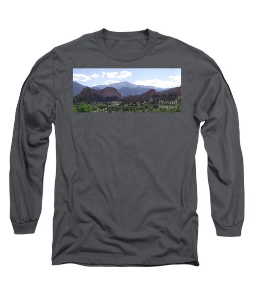 Panoramic Garden Of The Gods Long Sleeve T-Shirt