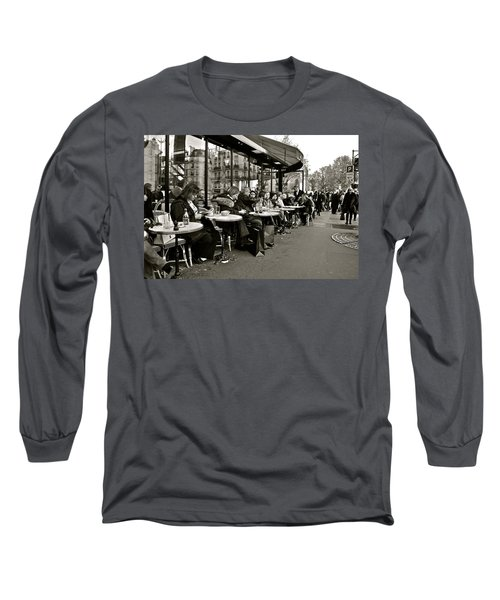 Long Sleeve T-Shirt featuring the photograph Paris Cafe by Eric Tressler