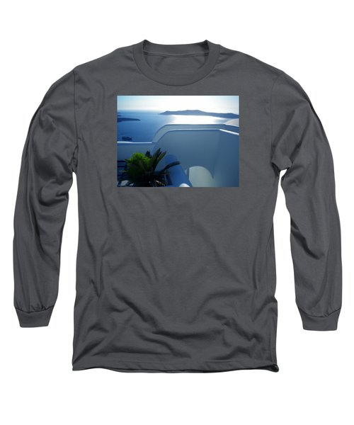 Long Sleeve T-Shirt featuring the photograph Peaceful Sunset Santorini by Colette V Hera  Guggenheim
