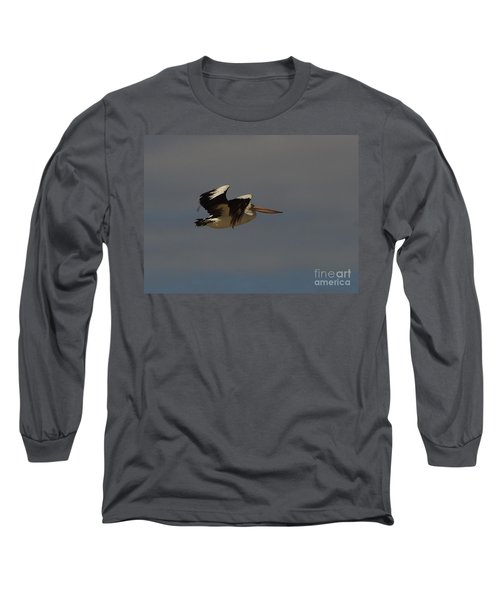Long Sleeve T-Shirt featuring the photograph Pelican In Flight 3 by Blair Stuart