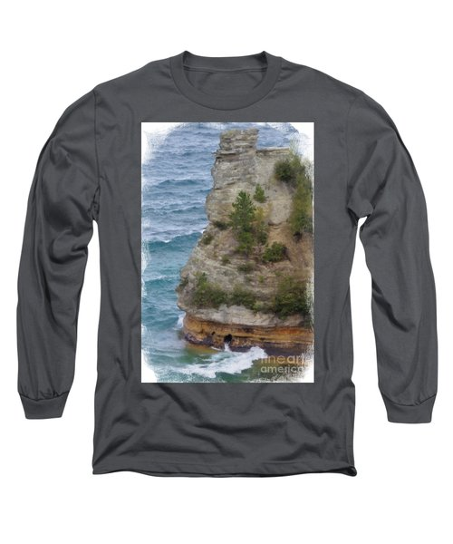 Long Sleeve T-Shirt featuring the photograph Pictured Rocks In Oil by Deniece Platt