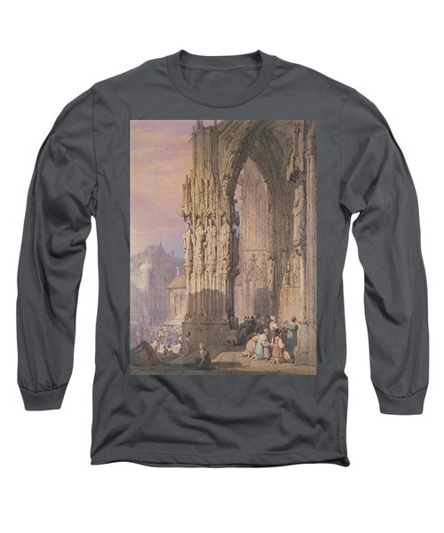 Porch Of Regensburg Cathedral Long Sleeve T-Shirt