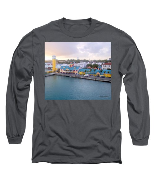 Long Sleeve T-Shirt featuring the photograph Port Of Call by Cynthia Amaral