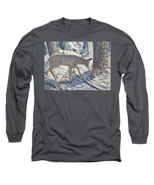 Purple In The Shadow Long Sleeve T-Shirt