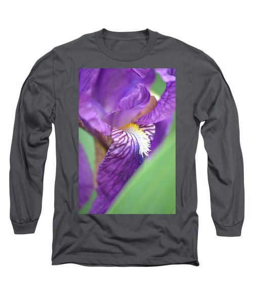 Long Sleeve T-Shirt featuring the photograph Purple Iris by JD Grimes