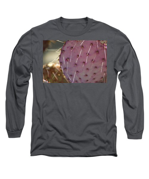 Purple Prickly Pear Long Sleeve T-Shirt