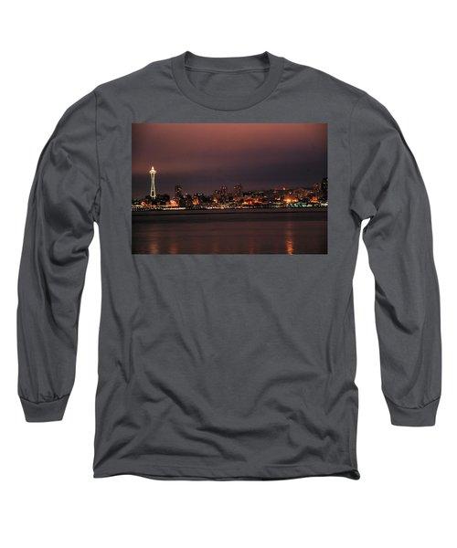 Purple Sky Morning Long Sleeve T-Shirt