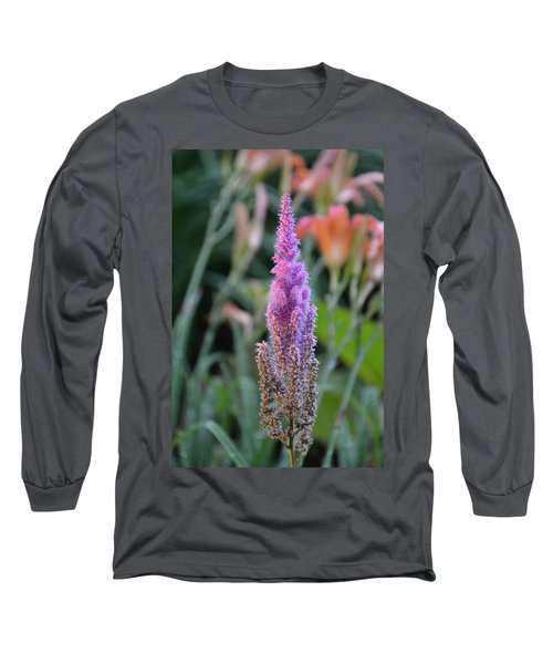 Purple Spear Long Sleeve T-Shirt by Bonnie Myszka