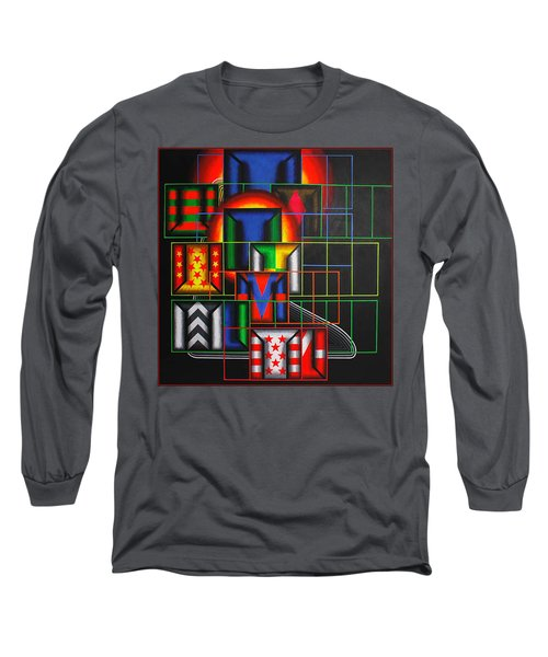 Long Sleeve T-Shirt featuring the painting Quazar by Mark Howard Jones