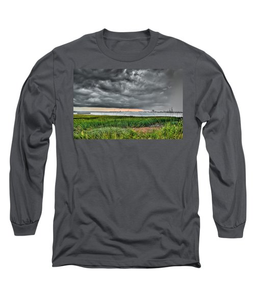 Rain Rolling In On The River Long Sleeve T-Shirt