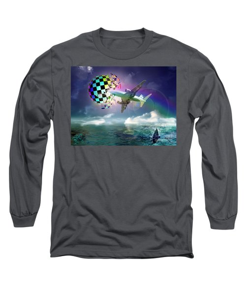 Rainbow Set Free Long Sleeve T-Shirt by Rosa Cobos