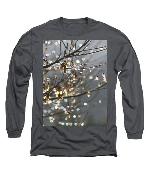 Long Sleeve T-Shirt featuring the photograph Raindrops And Leaves by Katie Wing Vigil