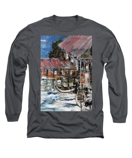 Long Sleeve T-Shirt featuring the painting Resting by Evelina Popilian