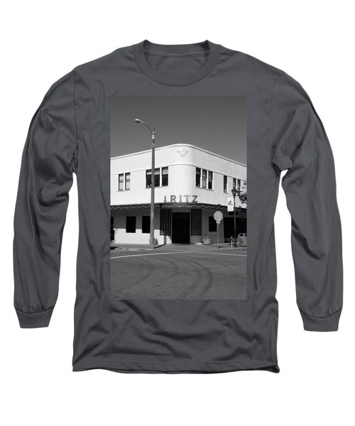 Ritz Building Eureka Ca Long Sleeve T-Shirt by Kathleen Grace