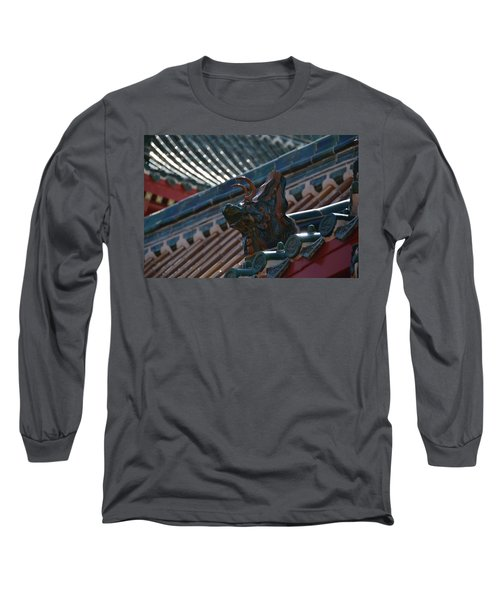 Rooftop Dragon Long Sleeve T-Shirt by Bonnie Myszka